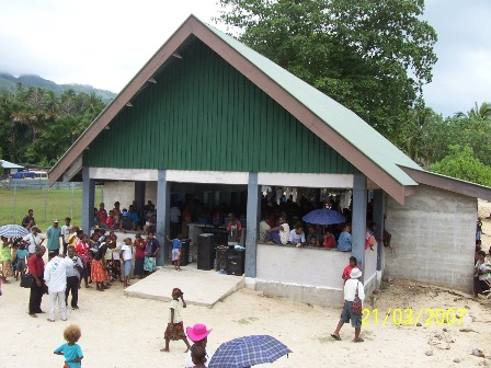 A view of the new Market building at Malu'u