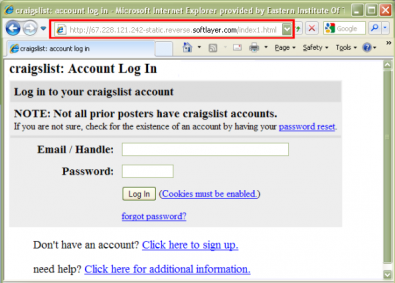 "Phishing email send you to the following url (notice ""strange"" numbers)"