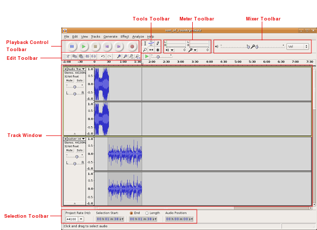 Using Audacity  The Interface