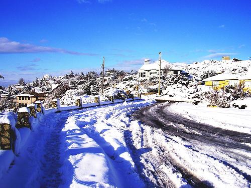 Snow in Victoria, Canada
