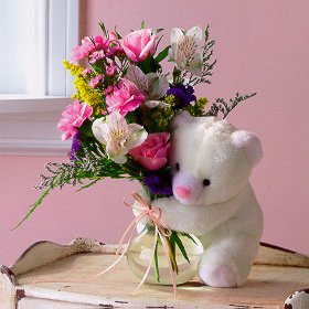 Mixed Flowers and a Bear.jpg