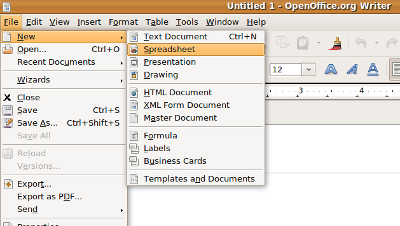 Creating, opening, and closing Calc spreadsheets - WikiEducator