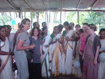 International Guests at Onam