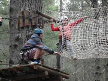A little helping hand at Tree Adventures