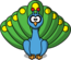 StudioFibonacci Cartoon peacock.png