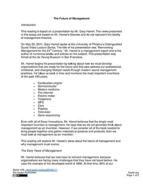 future of management pdf