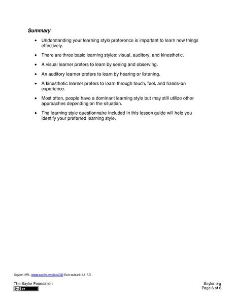 File:Saylor orgs-Whats-Your-Learning-Style pdf - WikiEducator