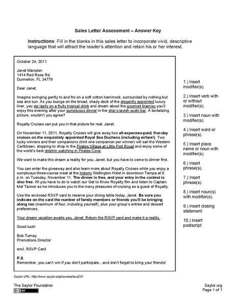 FileCCOM 101 Sales Letter Assessment Sample Answerpdf