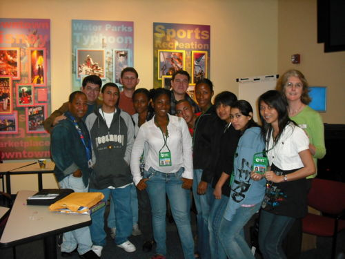 Last Year's group of Disney Interns at Orientation at Disney.
