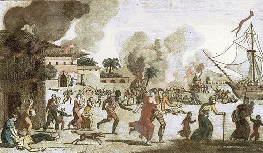 Image: Frontispiece from the book Saint-Domingue, ou Histoire de Ses Révolutions. ca. 1815.