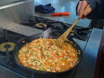Paella cooking- authentic learning about Spanish food