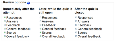 Moodle's granular control allows educators a wide range of options when working with quizzes.