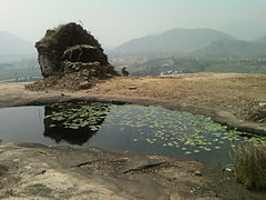 A view of Ruined Buddhist temple on hilltop at ---File---Ramatheertham Vizianagaram AP India.jpg