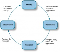 The process of scientific research |