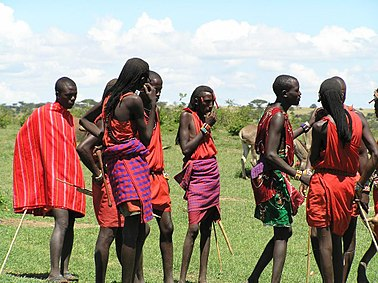 Picture: Young Maasai men