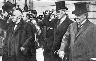the Big Three. Georges Clemenceau, Woodrow Wilson and David Lloyd George