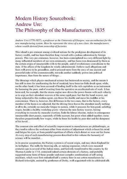 modern history sourcebook