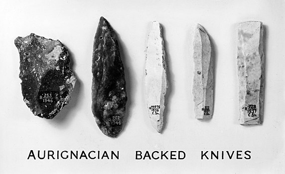 Image: Aurignacian Backed Knives (Wellcome M0011849)