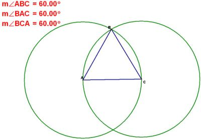 Equilateral Triangles have 60 degree Angles